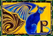 Winged Feline Cat Art by Dora Hathazi Mendes