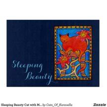 Sleeping Beauty Cutting Board by Cats of Karavella