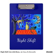 Night Shift Cats of Karavella Clipboard