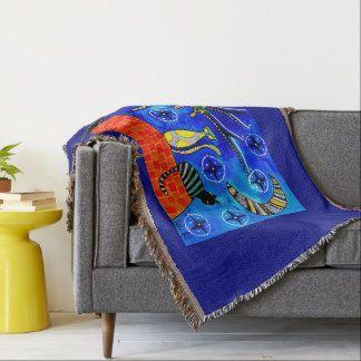 Night Shift Cats of Karavella Throw Blanket