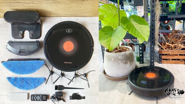 SANSUI山水掃地機器人SRV-A11|智能掃拖+聲控啟動一次搞定|獨立集塵盒/水箱