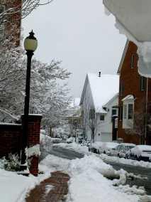 Old Town Alexandria snow