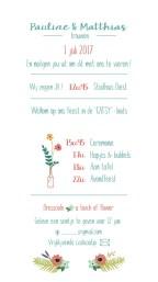 huwelijkskaart huwelijksuitnodiging kaart
