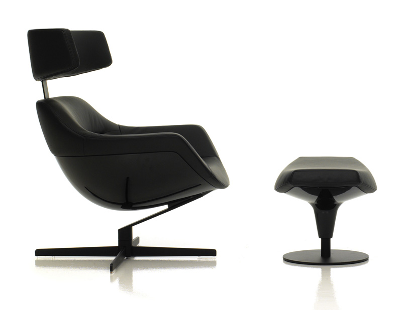 Armchair And Footrest 277 Auckland By Cassina Cattelan