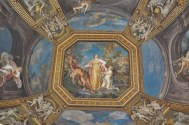 Ornately painted ceiling in the Vatican