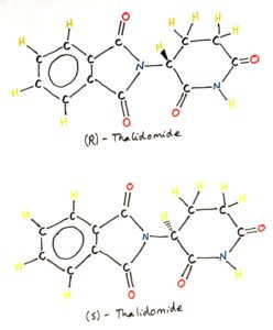 R S isomerism stereoisomers chiral carbon thalidomide optical isomers