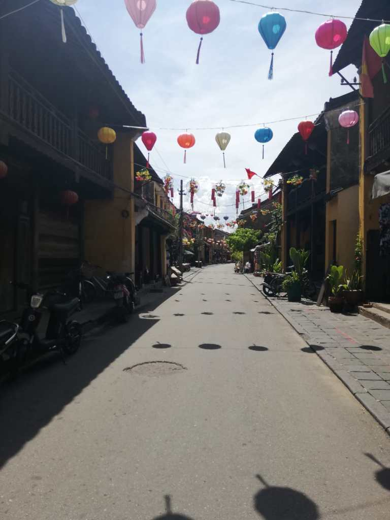 Colorful lanterns in the streets of Hoi An Vietnam