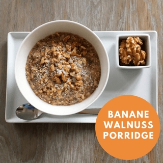 Banane-Walnuss Porridge
