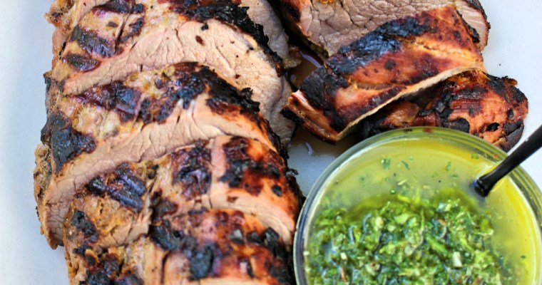 Citrus Pork Tenderloin with Chimichurri Sauce