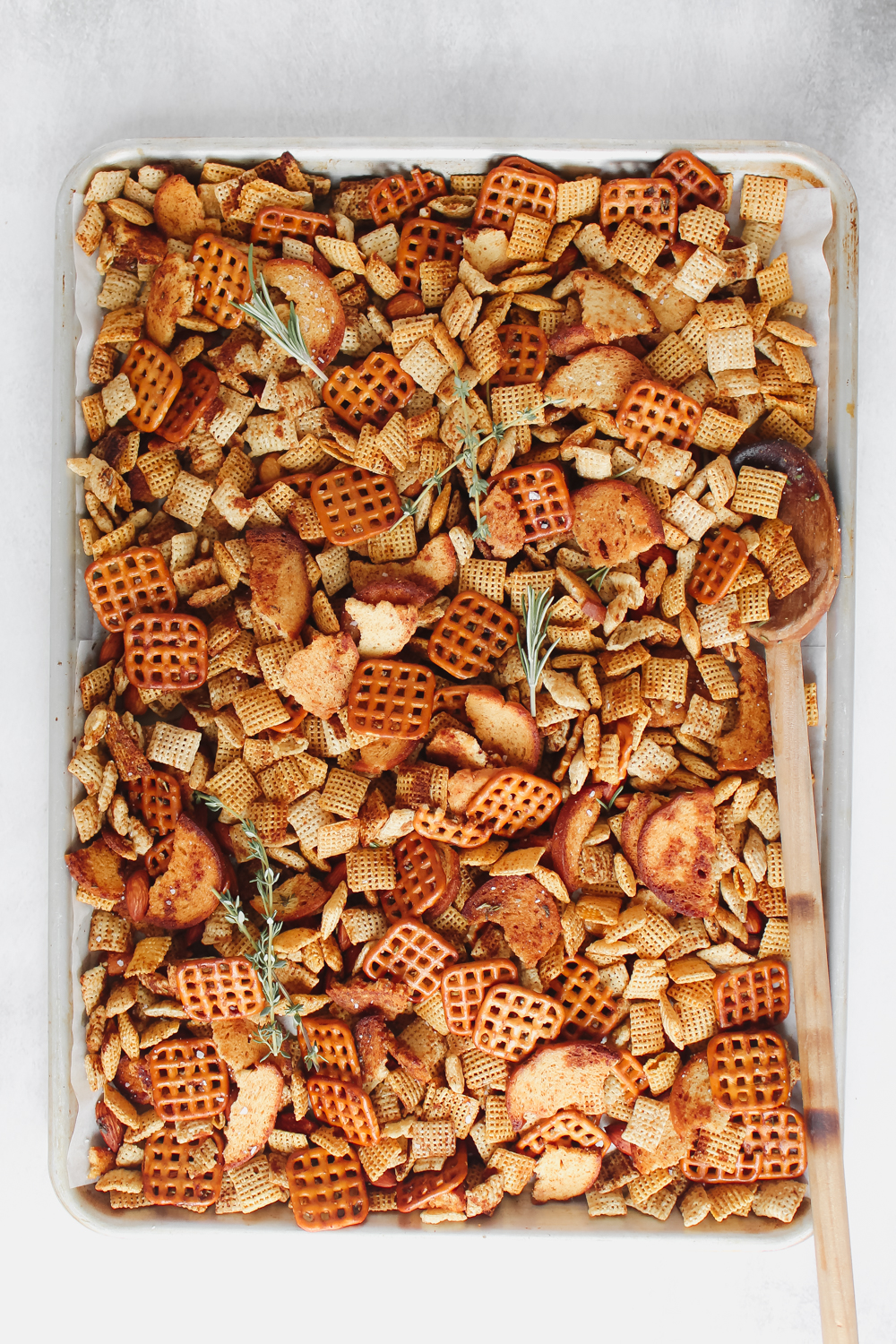 Holiday Chex Mix with Brown Butter & Herbs