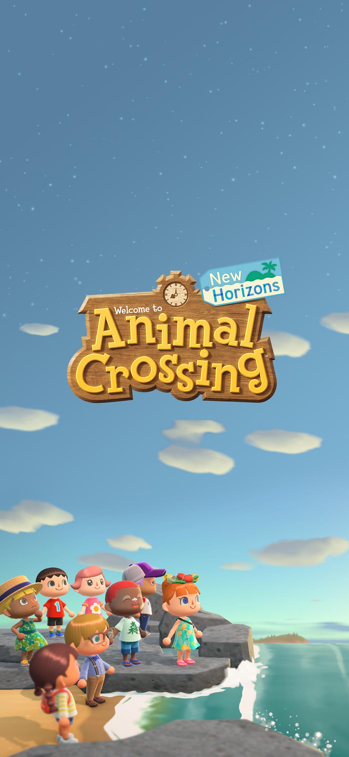 Animal Crossing New Horizons Shoreline Wallpaper Cat