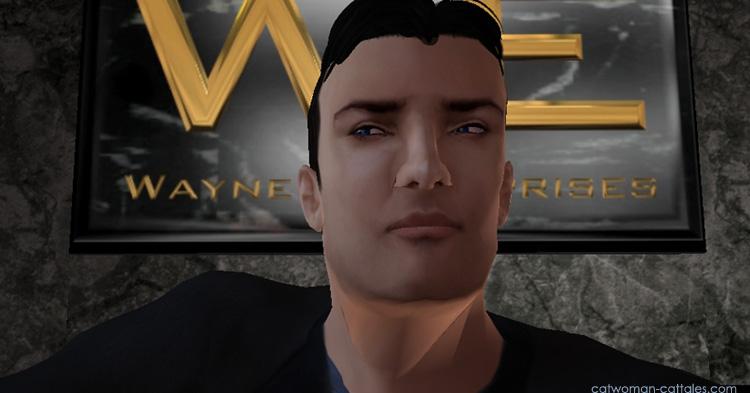 Bruce Wayne in the Wayne Enterprises Lobby
