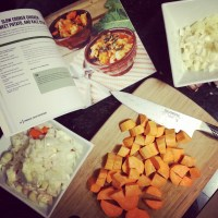 Slow Cooker Chicken, Sweet Potato and Kale Stew + Powerful Paleo Superfoods Cookbook Review & GIVEAWAY!