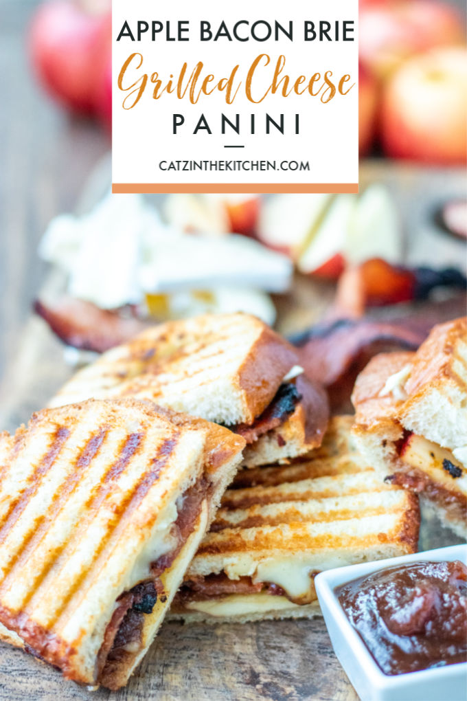 Apple Bacon Brie Grilled Cheese Panini Recipe