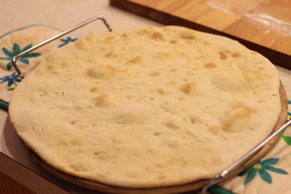 par baking pizza dough
