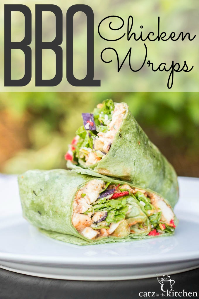 BBQ Chicken Wraps | Catz in the Kitchen | catzinthekitchen.com #wrap
