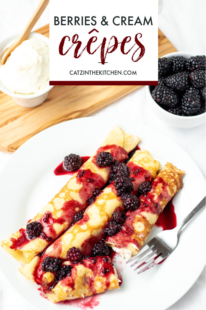 recipe for berries and cream crepes