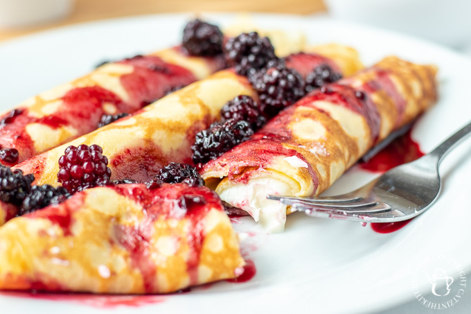 cream filled crepes