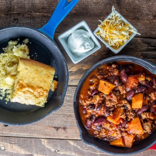 Slow Cooker Sweet Potato & Turkey Chili