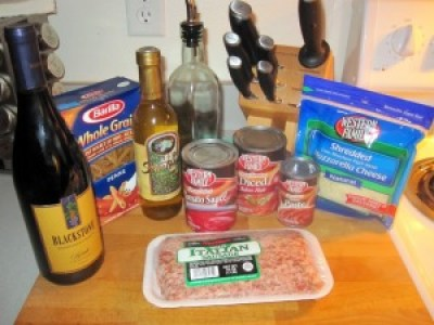 baked penne ingredients