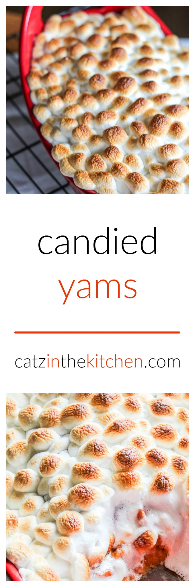 Candied Yams | Catz in the Kitchen | catzinthekitchen.com | #holidays #recipe #yams #Thanksgiving