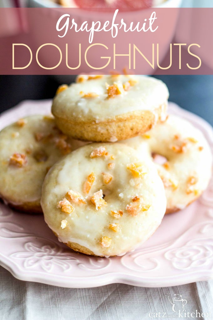 Grapefruit Doughnuts | Catz in the Kitchen | catzinthekitchen.com #doughnuts