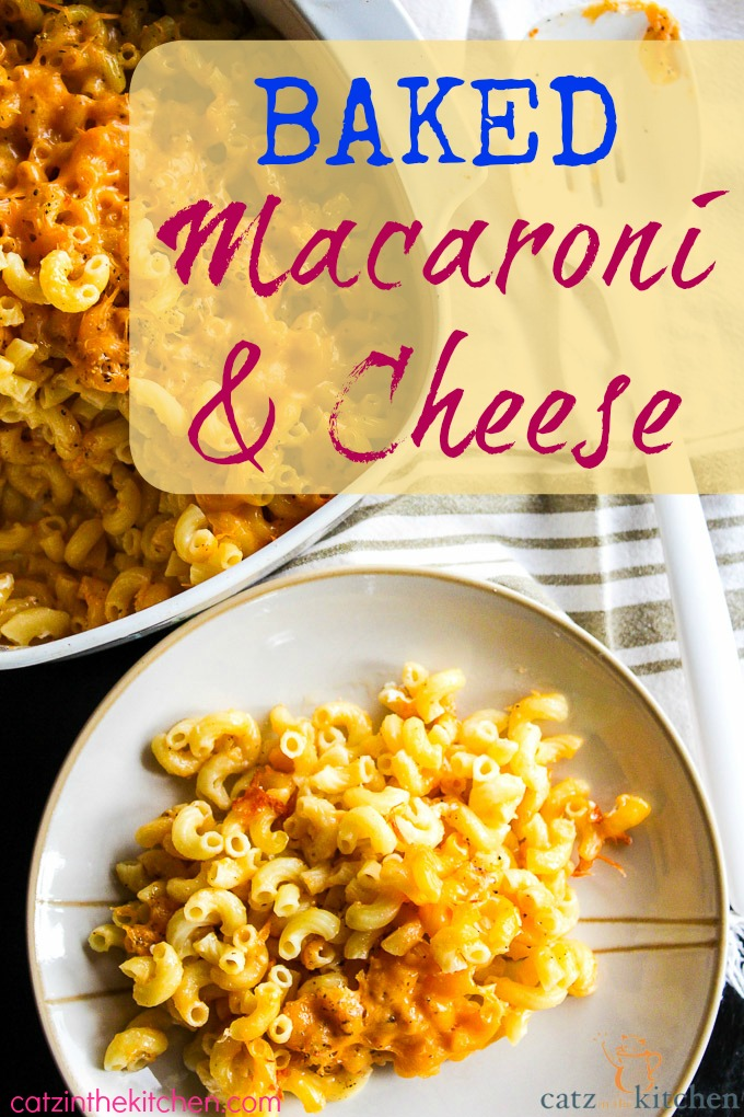Baked Macaroni & Cheese | Catz in the Kitchen | catzinthekitchen.com #pasta