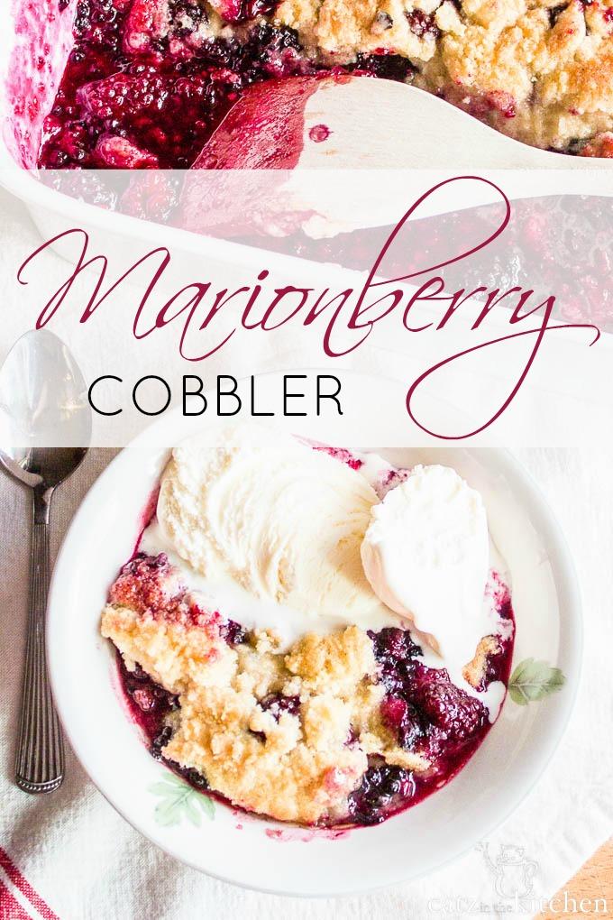 Marionberry Cobbler | Catz in the Kitchen | catzinthekitchen.com #berries