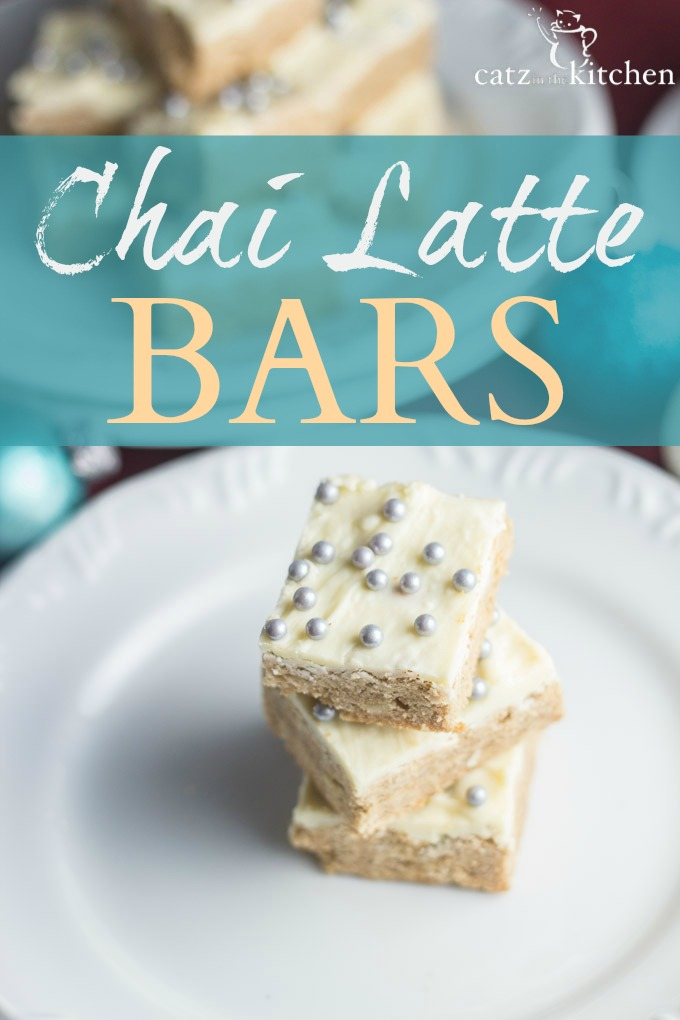 Chai Latte Bars | Catz in the Kitchen | catzinthekitchen.com | #chocolate #chai #latte