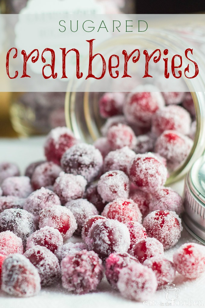 Sugared Cranberries | Catz in the Kitchen | catzinthekitchen.com #Christmas