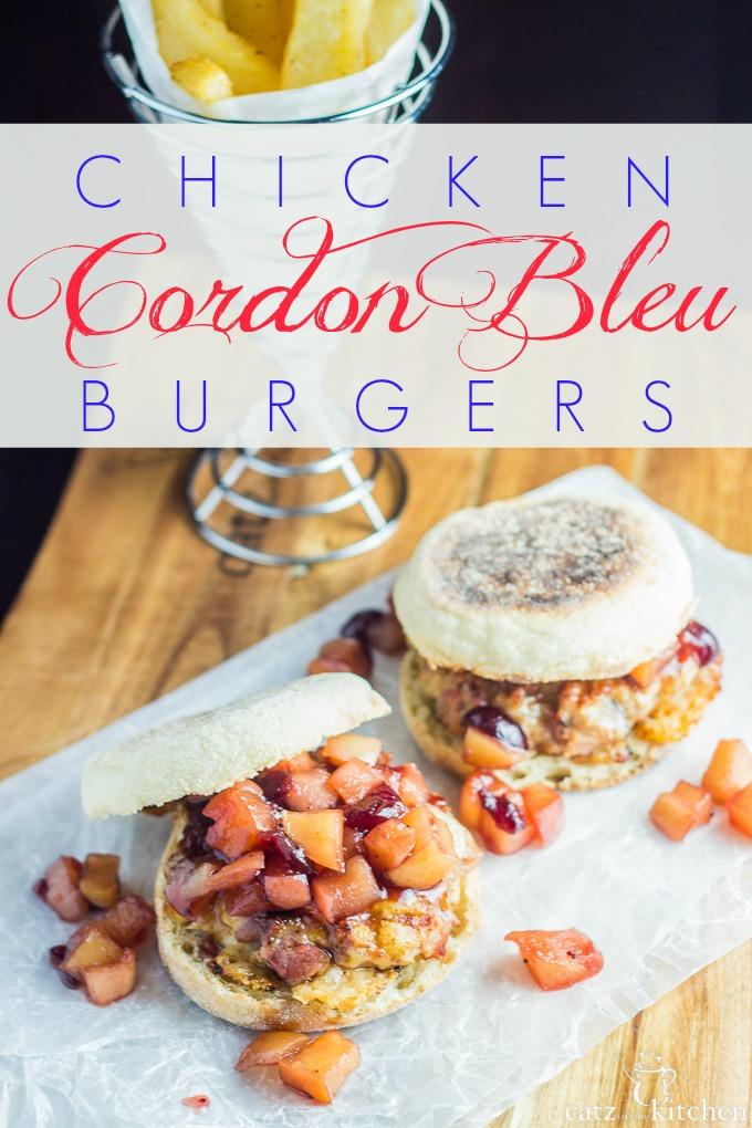 Chicken Cordon Bleu Burgers   Catz in the Kitchen   catzinthekitchen.com #burgers