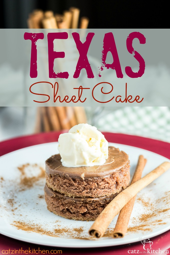 Texas Sheet Cake | Catz in the Kitchen | catzinthekitchen.com #cake