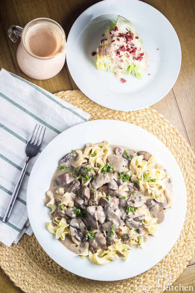 Beef Stroganoff | Catz in the Kitchen | catzinthekitchen.com #beef