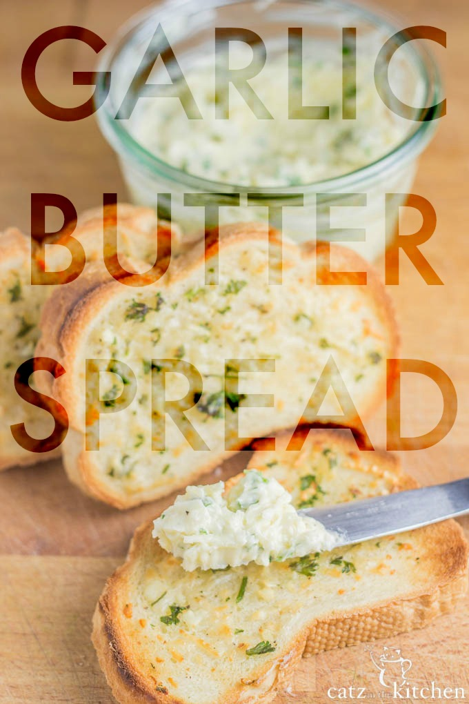 Garlic Butter Spread | Catz in the Kitchen | catzinthekitchen.com #Garlic #Butter