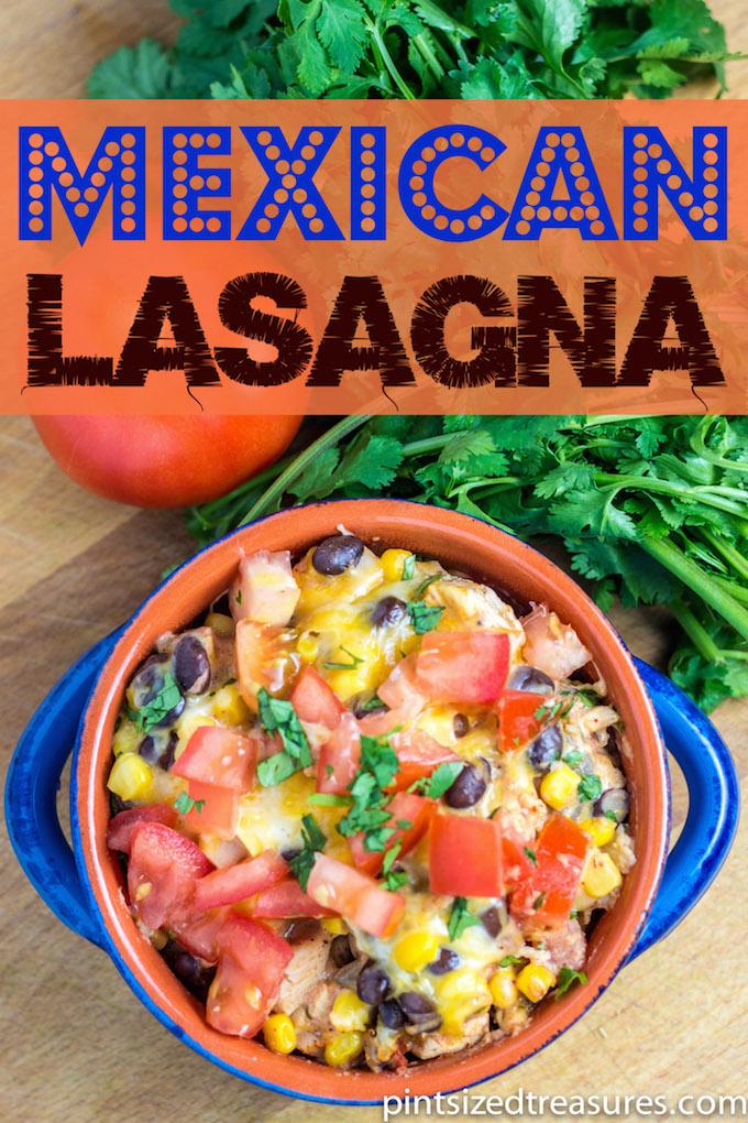 Mexican Lasagna | Pint-Sized Treasures | pintsizedtreasures.com #lasagna