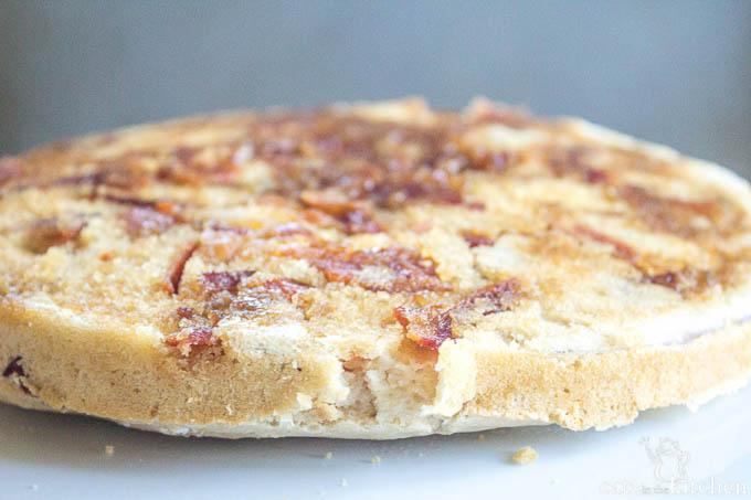 Bacon Upside Down Pancake | Catz in the Kitchen | catzinthekitchen.com #bacon