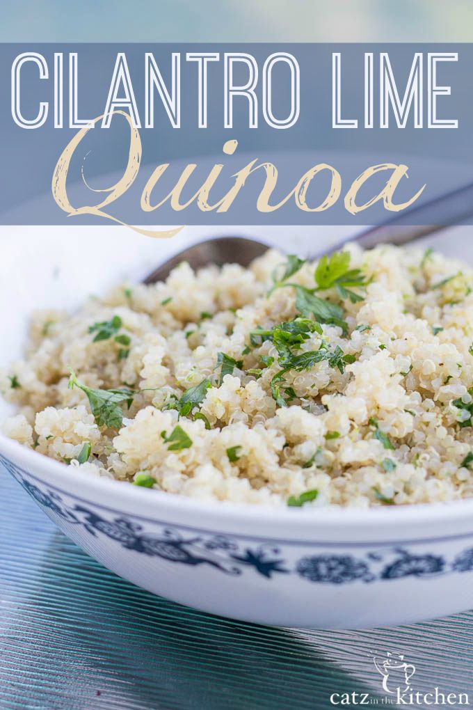 Cilantro Lime Quinoa   Catz in the Kitchen   catzinthekitchen.com #quinoa