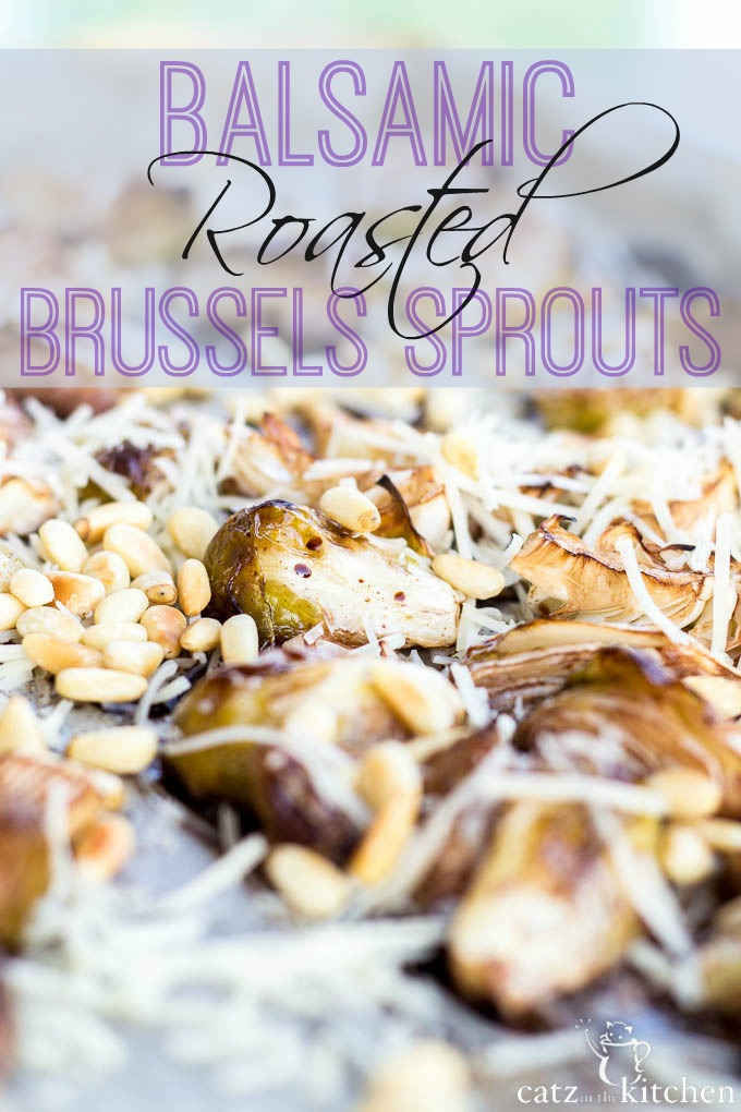 Balsamic Roasted Brussels Sprouts | Catz in the Kitchen | catzinthekitchen.com #balsamic