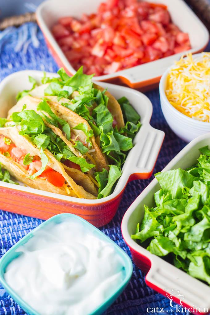 Crispy Chicken Tacos   Catz in the Kitchen   catzinthekitchen.com   #Mexican #chicken #tacos