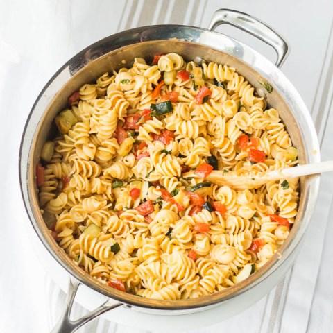 Roasted Zucchini & Tomato Pasta