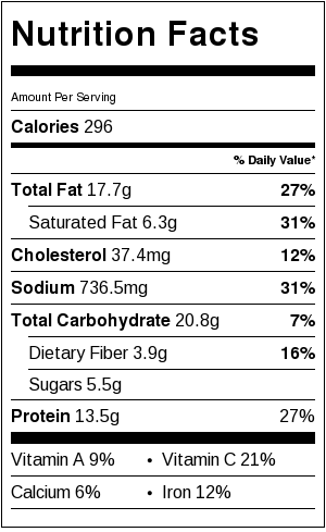 Vodka Penne Nutrition Facts | Catz in the Kitchen | catzinthekitchen.com | #penne #vodka #pasta