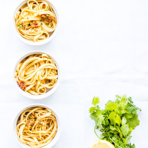 Linguini with Lemon & Sun-Dried Tomatoes
