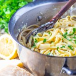 Okay, it's not healthy, but every once in awhile you really just need butter, cream, garlic, pasta, and cheese...you need homemade fettuccine alfredo.