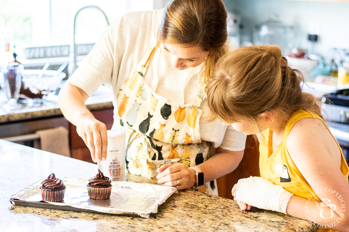Kids can bake, too! 10-year-old Eden shares her experience baking and decorating these indulgently delightful Devil's Food Cupcakes from scratch!