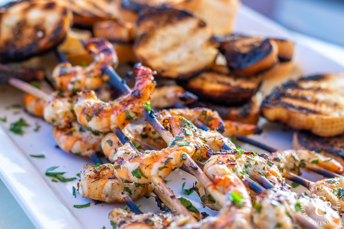 This recipe for grilled shrimp scampi couldn't be easier. A few ingredients for a quick marinade, followed by about five minutes on the grill - delish!