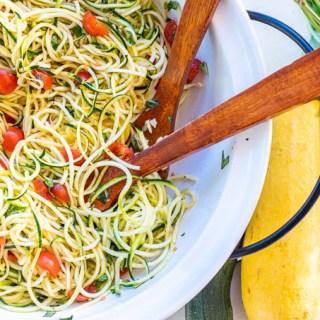 Summer Squash Caprese Salad