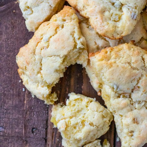 Green Chile & Cheddar Cheese Scones