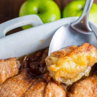 This recipe for homemade country apple dumplings is made easy using crescent rolls! The cinnamon and sugar goodness will keep you coming back all year long!