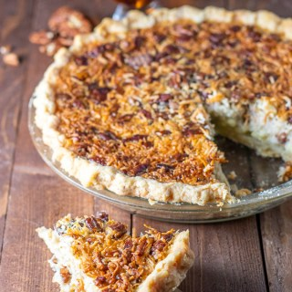 Looking for a twist on a holiday standby? This bourbon coconut custard pecan pie adds some new textures and flavors to this perennial favorite recipe!