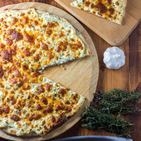 Garlic Three Cheese Pizza